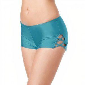 Hula Honey Juniors' Strappy Swim Boy Shorts~XL